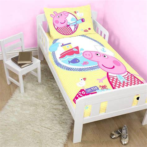 george pig toddler bed set peppa pig george pig duvet quilt covers toddler