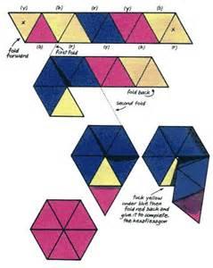 hexaflexagon origami how to make a hexaflexagon