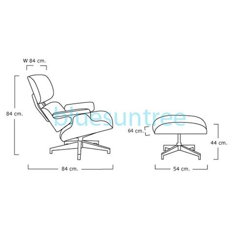 Eames Lounge Chair Dimensions by Lounge Chair And Ottoman
