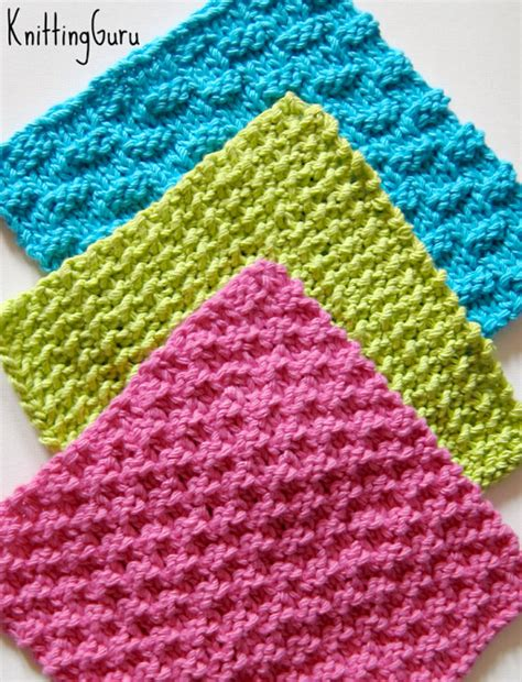 how to knit a dishcloth 6 steps 6 knit dishcloth patterns tutorials e book pdf fast