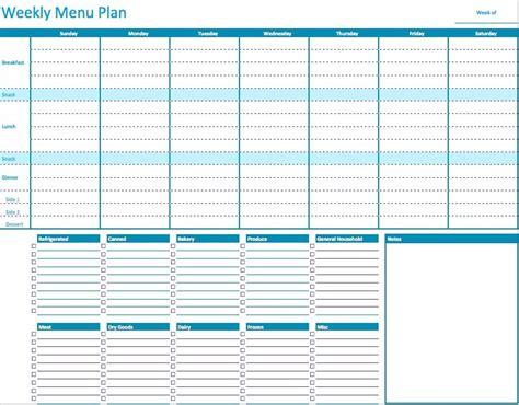 weekly menu template e commercewordpress