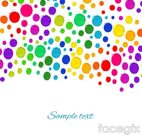 colorful watercolor dots background vector free download