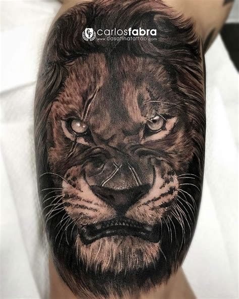 angry lion with scars best tattoo design ideas