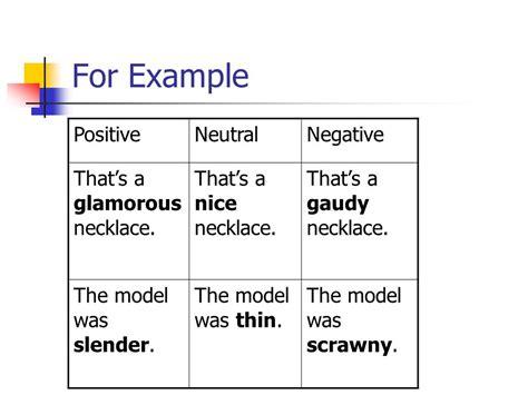 neutral connotation connotation vs denotation ppt