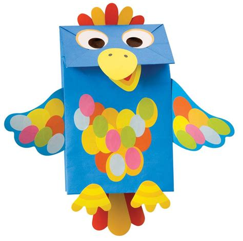 paper puppet crafts paper bag puppets kit at growing tree toys