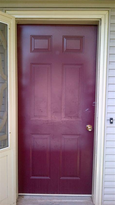 painting exterior metal door how to paint exterior doors