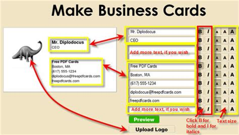 how to make a free business card create business cards on the fly free pdf cards