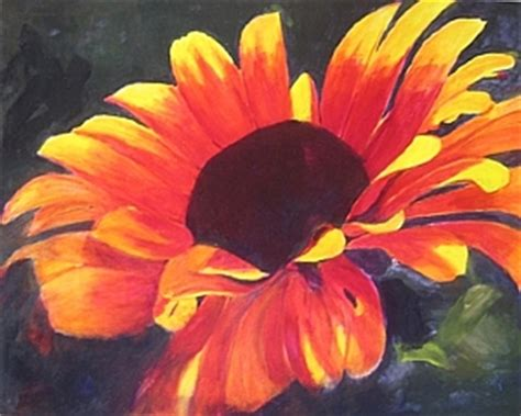 acrylic paint flowers how to paint a flower with acrylics step by step