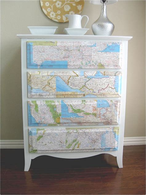 decoupage maps on furniture six ways to recycle maps diy inspired