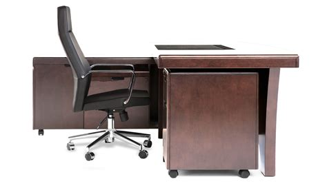 desk rolling file cabinet light quincy modern wood desk with rolling return and file