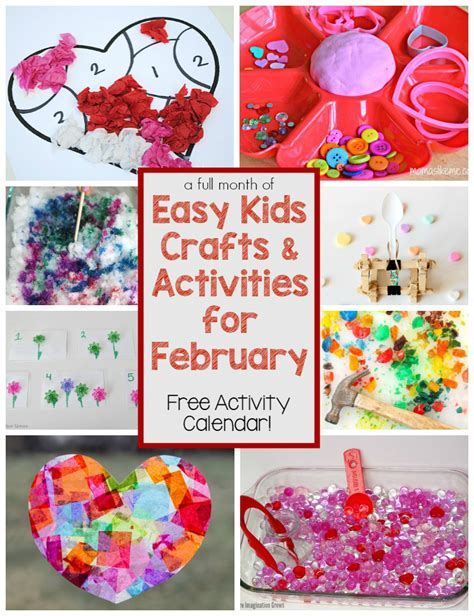 february crafts for a month of crafts activities for february where