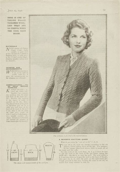 weekly knitting patterns 1940s patterns to knit v a from 1940 s womens