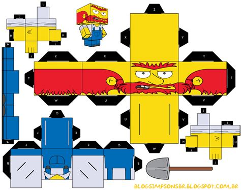 paper craft papercraft simpsons papercraft toys arte de papel