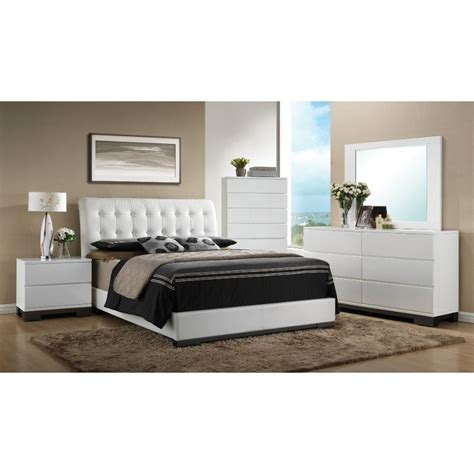 bedroom furniture sets white avery 6 white bedroom set