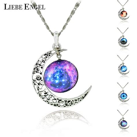 Brand Silver Color Jewelry Fashion Moon Statement Necklace