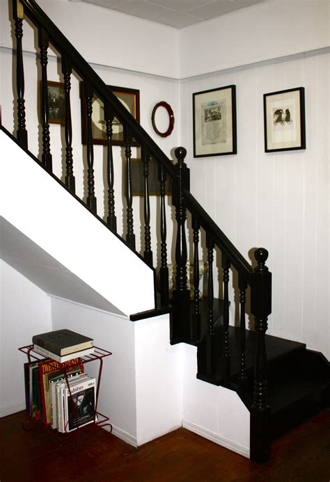 how to paint a staircase black googled then oogled