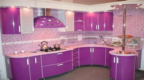 modern kitchen color schemes purple pink kitchen design ideas modern kitchen