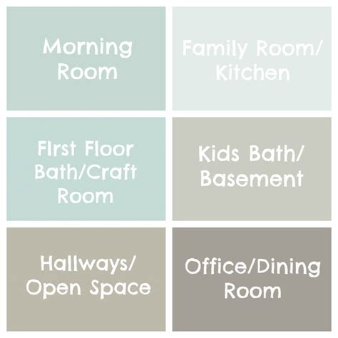 real simple foolproof paint colors for every room in the house seaside interiors the paint colors of my house
