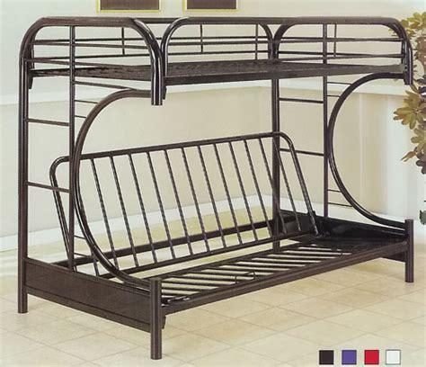 metal futon bunk beds metal futon bunk bed plans design ideas