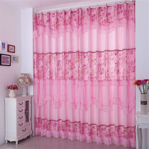 pink nursery curtains sweet pink lace baby nursery curtains