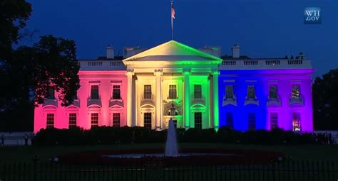 light up house white house lights up rainbow colors to celebrate scotus