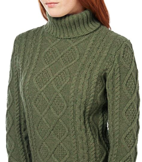 knitted jumpers australia woolovers womens lambswool chunky cable polo neck