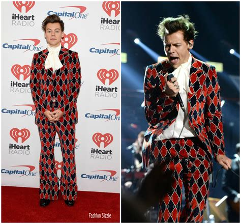 styles with harry styles in gucci 2017 iheartradio festival