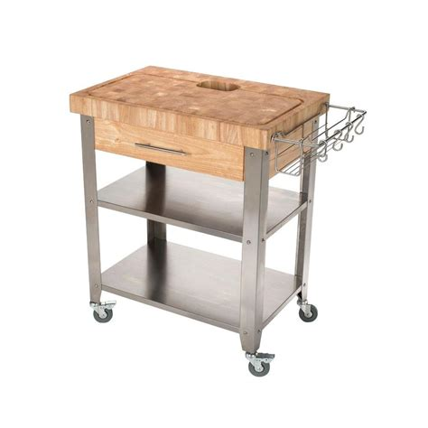 Kitchen Islands With Drop Leaf chris amp chris pro stadium stainless steel kitchen cart
