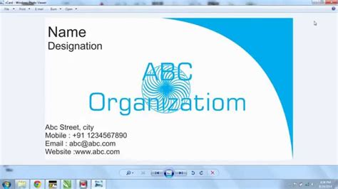 make calling card create business card in coreldraw x7 al jazib vblogs