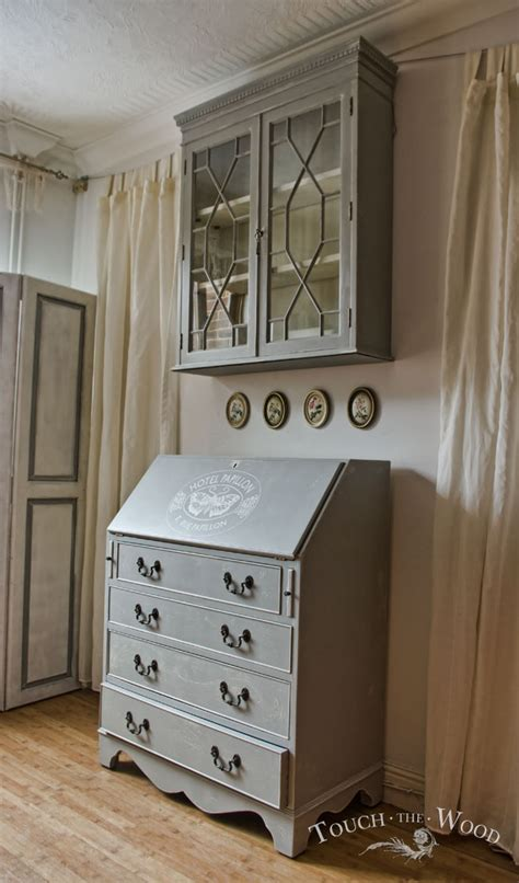 shabby chic bureau vintage shabby chic bureau with bookcase no 16 touch