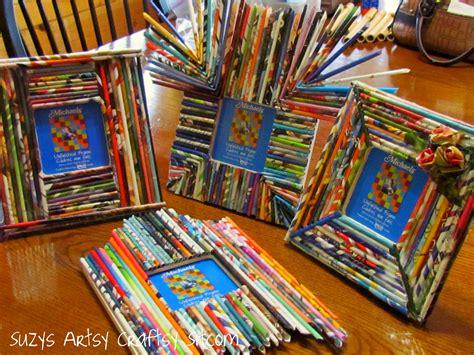 paper craft frames paper reed frame tutorial