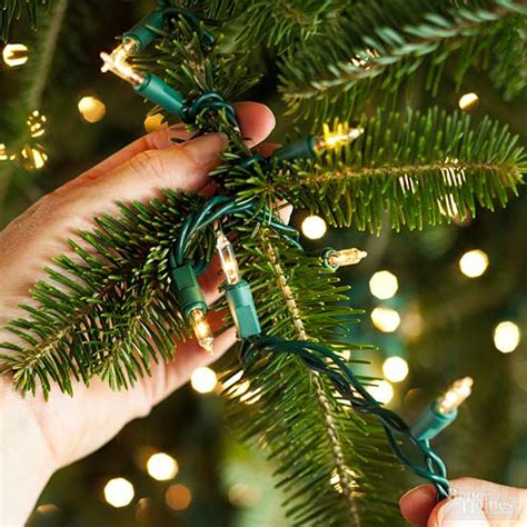 how to decorate tree lights how to decorate a tree from better homes gardens