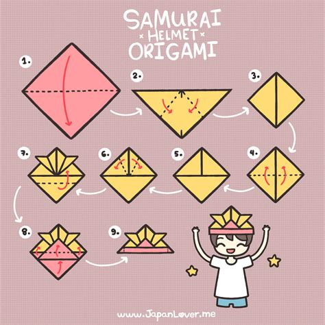 samurai hat origami samurai helmet origami tutorial cool japan lover me