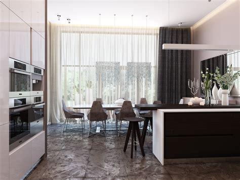 modern kitchen and dining room design modern neutral dining room kitchen 3 interior design ideas