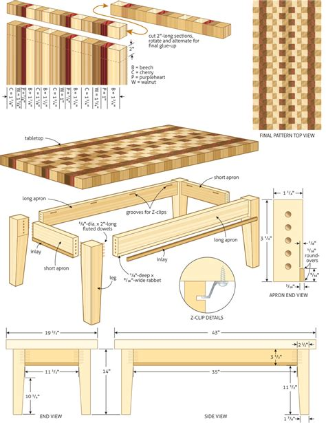 woodworking plan coffee table woodworking plans woodshop plans