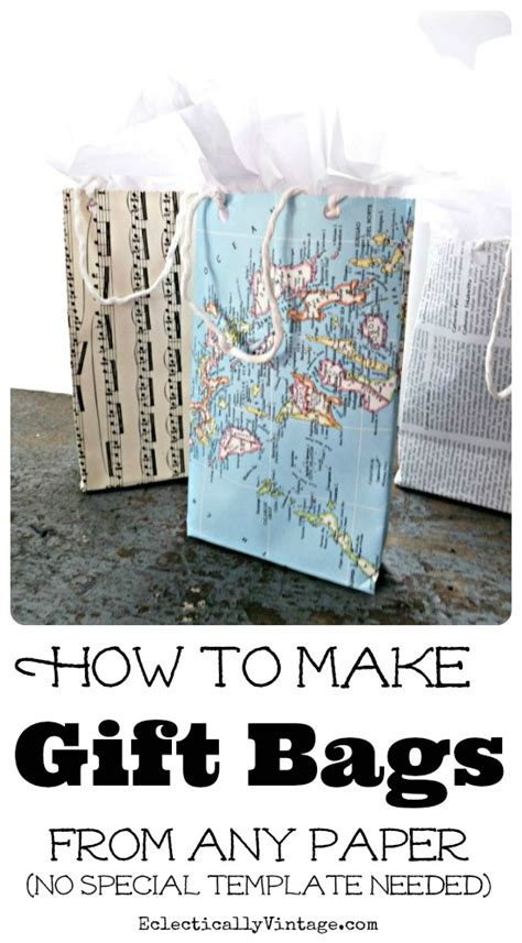 how to make bag make paper gift bag tutorial from any paper