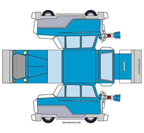 paper craft cars mr car in papercraft