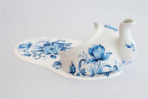 melting patterns porcelain china by livia marin looks like melting