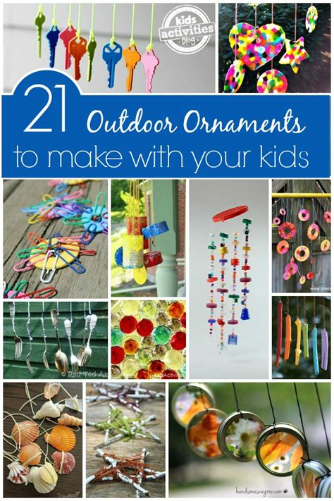how to make outdoor decorations outdoor ornaments to make with activities