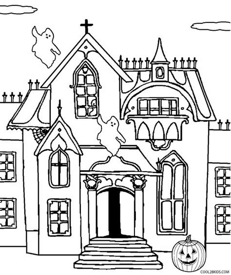 haunted house coloring page chuckbutt com