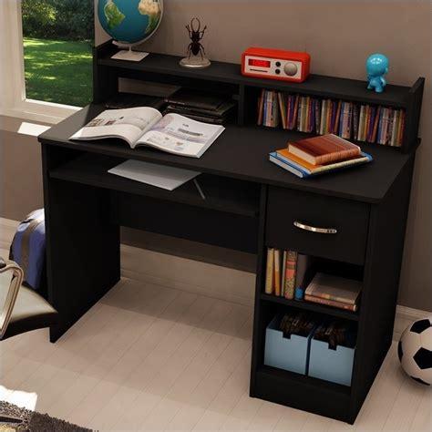 small computer desk black south shore axess small wood w hutch black computer
