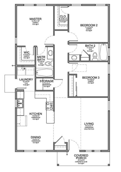 house floor plans with interior photos floor plan for a small house 1 150 sf with 3 bedrooms and