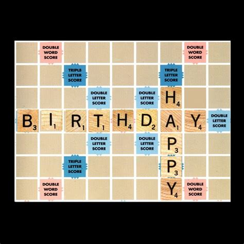 scrabble card happy birthday scrabble card by arcataartisans on etsy