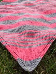stripe patterns for knitting pink grey diagonal stripe blanket great color