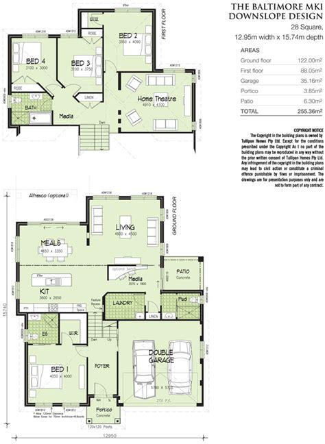 baltimore mk 1 downslope design tri level home design tullipan homes