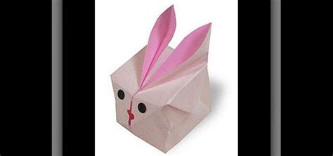 how to make a bunny origami how to make an adorable origami bunny cube