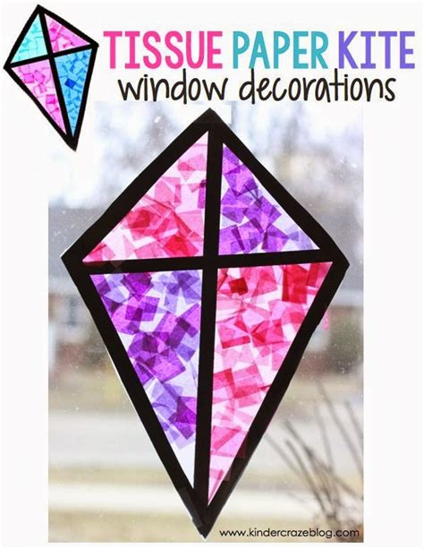 stained glass tissue paper craft stained glass kite decorations made from tissue paper