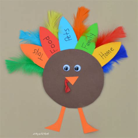 turkey craft for thankful turkey kid craft and book the resourceful