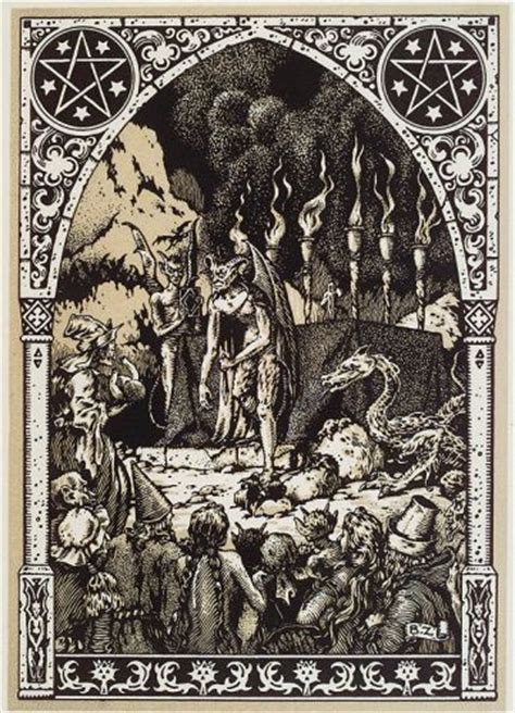 picture book of devils demons and witchcraft magickal graphics occult witchy woodcuts