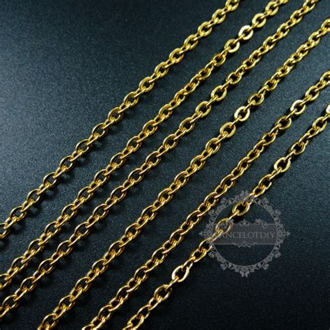 stainless steel jewelry supplies 3pcs 23inch 3mm gold plated 316l stainless steel necklace